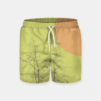 Miniatur Trees and shape Swim Shorts, Live Heroes
