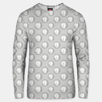 Thumbnail image of Vintage Wall Clock Print Pattern Unisex sweater, Live Heroes
