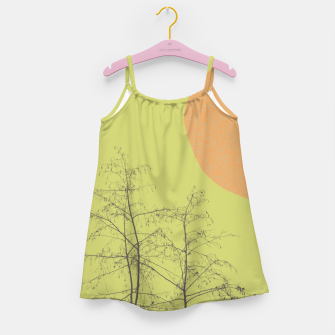 Trees and shape Girl's dress Bild der Miniatur