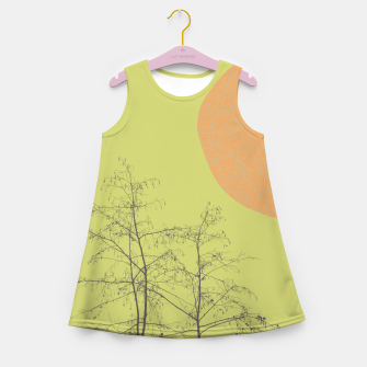 Trees and shape Girl's summer dress Bild der Miniatur