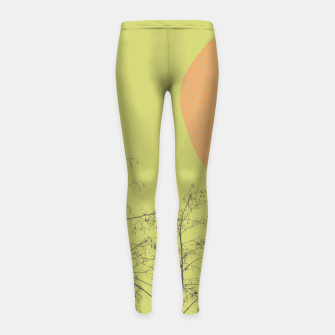 Trees and shape Girl's leggings Bild der Miniatur