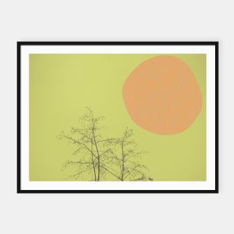 Miniatur Trees and shape Framed poster, Live Heroes
