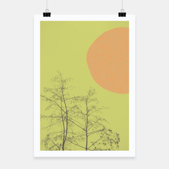 Miniatur Trees and shape Poster, Live Heroes