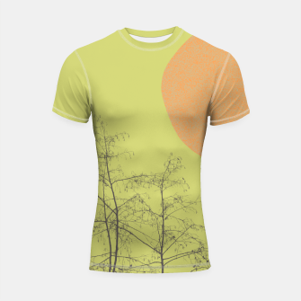 Miniatur Trees and shape Shortsleeve rashguard, Live Heroes