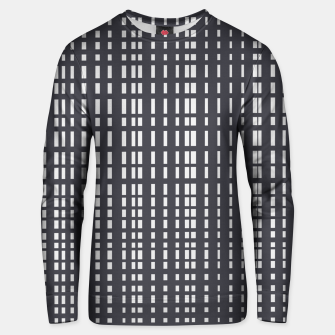 Miniatur Light Grey Dotted Lines on Grey  Unisex sweater, Live Heroes