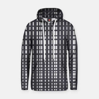 Miniatur Light Grey Dotted Lines on Grey  Hoodie, Live Heroes