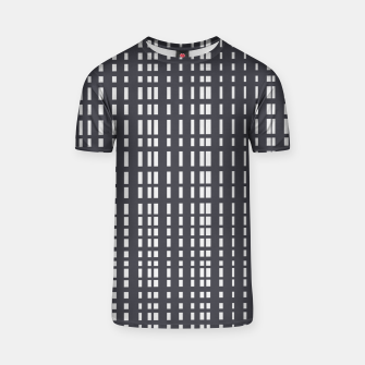 Miniatur Light Grey Dotted Lines on Grey  T-shirt, Live Heroes