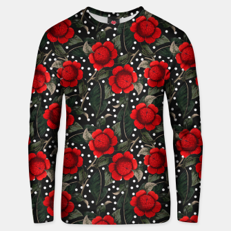 Miniatur Red flowers on moles Sudadera unisex, Live Heroes