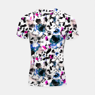 Flowery abstract strokes 2 Shortsleeve rashguard thumbnail image