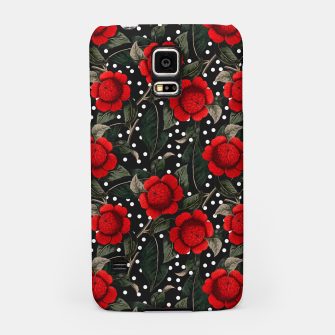 Thumbnail image of Red flowers on moles Carcasa por Samsung, Live Heroes