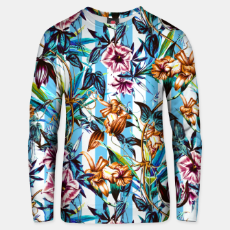 Thumbnail image of Floral Stripes Sudadera unisex, Live Heroes