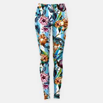 Thumbnail image of Floral Stripes Leggings, Live Heroes