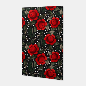 Miniatur Red flowers on moles Canvas, Live Heroes