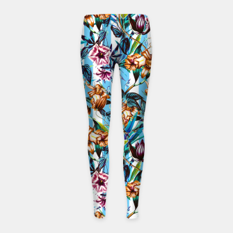 Thumbnail image of Floral Stripes Leggings para niña, Live Heroes