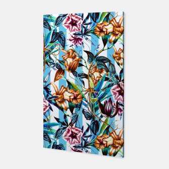 Thumbnail image of Floral Stripes Canvas, Live Heroes