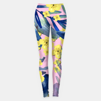 Thumbnail image of Tropical Florals Leggings, Live Heroes