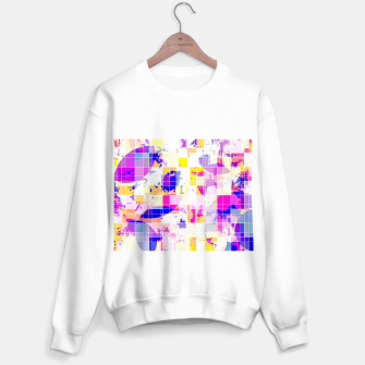 Miniaturka geometric square and circle pattern abstract in pink blue yellow Sweater regular, Live Heroes