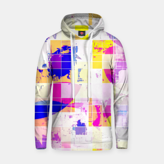 Miniaturka geometric square and circle pattern abstract in pink blue yellow Hoodie, Live Heroes
