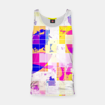 Miniaturka geometric square and circle pattern abstract in pink blue yellow Tank Top, Live Heroes