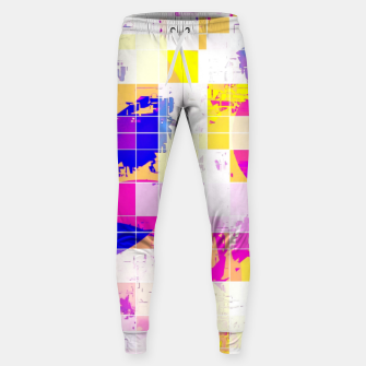 Miniaturka geometric square and circle pattern abstract in pink blue yellow Sweatpants, Live Heroes