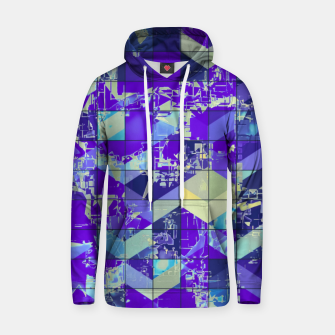 Miniaturka geometric square and triangle pattern abstract in purple and blue Hoodie, Live Heroes