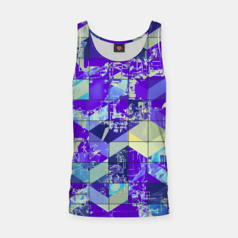 Miniaturka geometric square and triangle pattern abstract in purple and blue Tank Top, Live Heroes