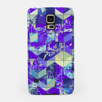 Miniatur geometric square and triangle pattern abstract in purple and blue Samsung Case, Live Heroes
