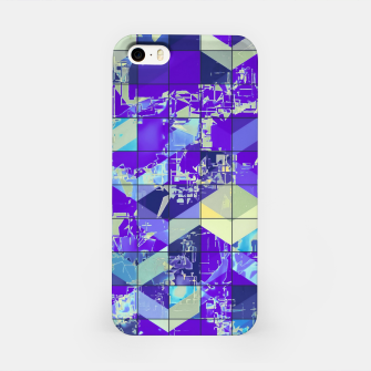 Miniaturka geometric square and triangle pattern abstract in purple and blue iPhone Case, Live Heroes