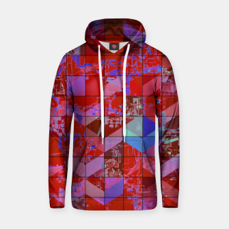 Miniaturka geometric square and triangle pattern abstract in red and blue Hoodie, Live Heroes