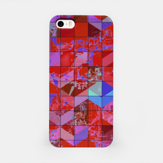 Miniaturka geometric square and triangle pattern abstract in red and blue iPhone Case, Live Heroes