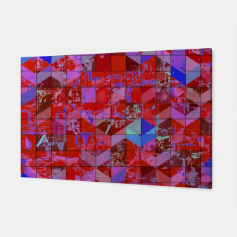 Miniaturka geometric square and triangle pattern abstract in red and blue Canvas, Live Heroes