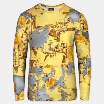 Miniaturka geometric painting texture abstract in yellow and brown Unisex sweater, Live Heroes
