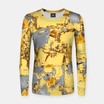 Miniaturka geometric painting texture abstract in yellow and brown Women sweater, Live Heroes