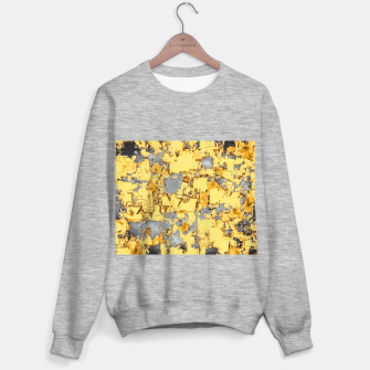 Miniaturka geometric painting texture abstract in yellow and brown Sweater regular, Live Heroes