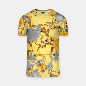 Miniaturka geometric painting texture abstract in yellow and brown T-shirt, Live Heroes