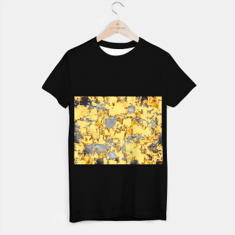 Miniaturka geometric painting texture abstract in yellow and brown T-shirt regular, Live Heroes