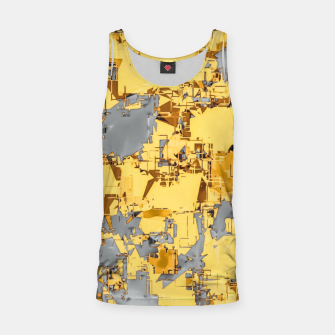 Miniaturka geometric painting texture abstract in yellow and brown Tank Top, Live Heroes