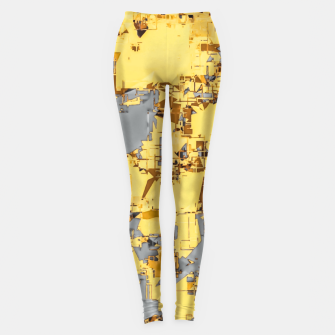 Miniaturka geometric painting texture abstract in yellow and brown Leggings, Live Heroes