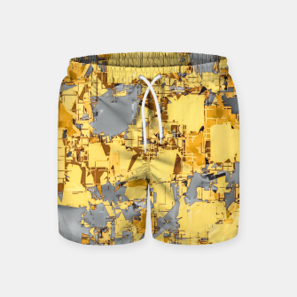 Miniaturka geometric painting texture abstract in yellow and brown Swim Shorts, Live Heroes