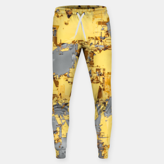 Miniaturka geometric painting texture abstract in yellow and brown Sweatpants, Live Heroes