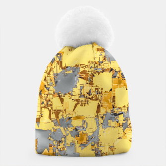 Miniaturka geometric painting texture abstract in yellow and brown Beanie, Live Heroes