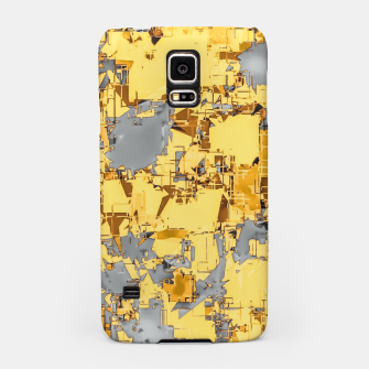 Miniaturka geometric painting texture abstract in yellow and brown Samsung Case, Live Heroes