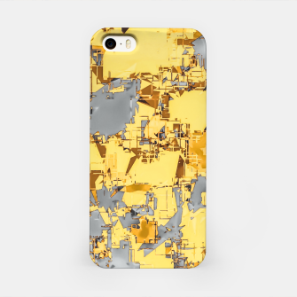 Miniaturka geometric painting texture abstract in yellow and brown iPhone Case, Live Heroes