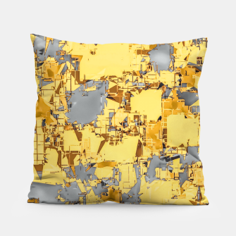 Miniaturka geometric painting texture abstract in yellow and brown Pillow, Live Heroes