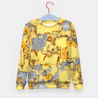 Miniaturka geometric painting texture abstract in yellow and brown Kid's sweater, Live Heroes