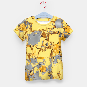 Miniaturka geometric painting texture abstract in yellow and brown Kid's t-shirt, Live Heroes
