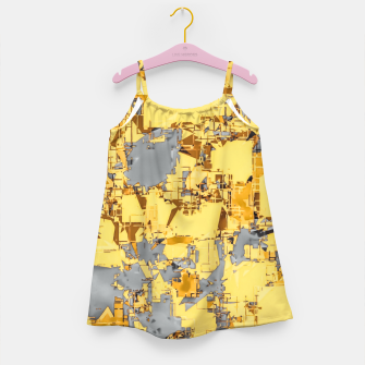 Miniaturka geometric painting texture abstract in yellow and brown Girl's dress, Live Heroes
