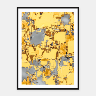 Miniaturka geometric painting texture abstract in yellow and brown Framed poster, Live Heroes
