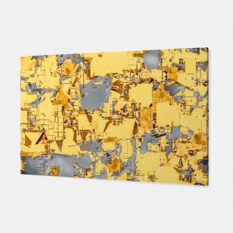 Miniaturka geometric painting texture abstract in yellow and brown Canvas, Live Heroes