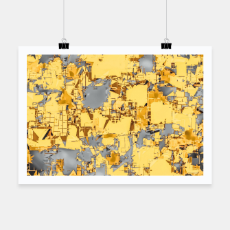 Miniaturka geometric painting texture abstract in yellow and brown Poster, Live Heroes